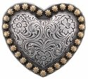 Heart Berry Concho Silver and Gold 1 1/4""