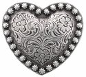 Heart Berry Concho Antique Silver 1 1/4""