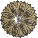 """Crystal Sunflower Concho Yellow 1"""""""