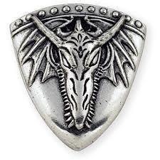 Dragon Head Shield Winged Concho