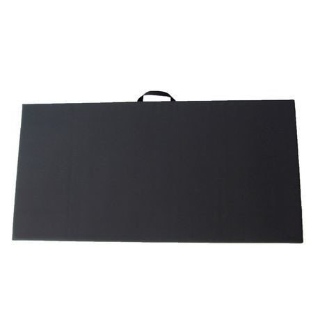 "Vinyl Covered Exercise Mat - 2' x 6' x 2"" - Black"