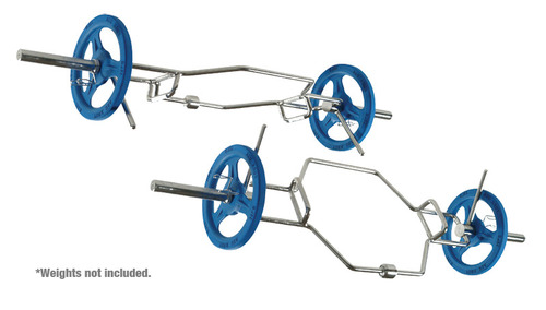 "York International ""Multi-Hex"" Dead Lift/Shrug Bar with Hi-Lo Handles and Rock+Rack"