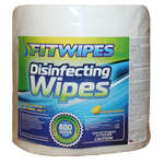 FitWipes - Disinfecting Wipes - 1 Case - 4 Bags