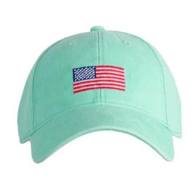American Flag Needlepoint Cap