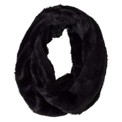 Black Bear Faux Mink Infinity Scarf
