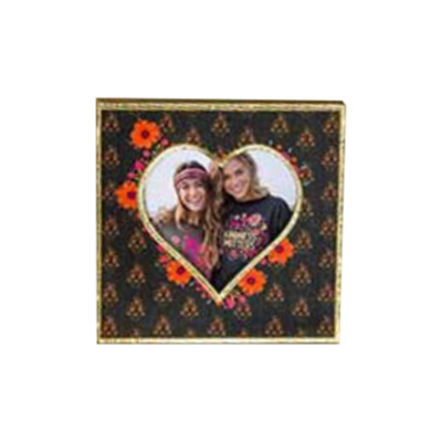 Wood Heart Picture Frame