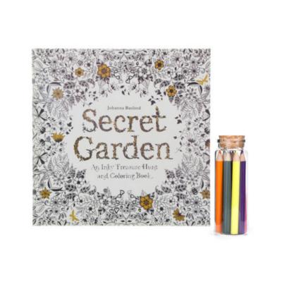Secret Garden Coloring Book & Colored Pencils