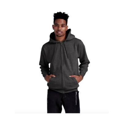 Charcoal Premium Full Zip Hoodie