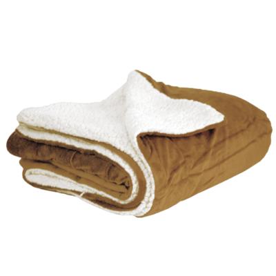 Camel Mink & Sherpa Blanket