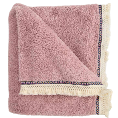 Fleece Fringe Throw Blanket