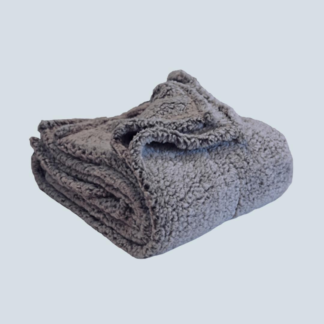 Slate Sherpa Blanket