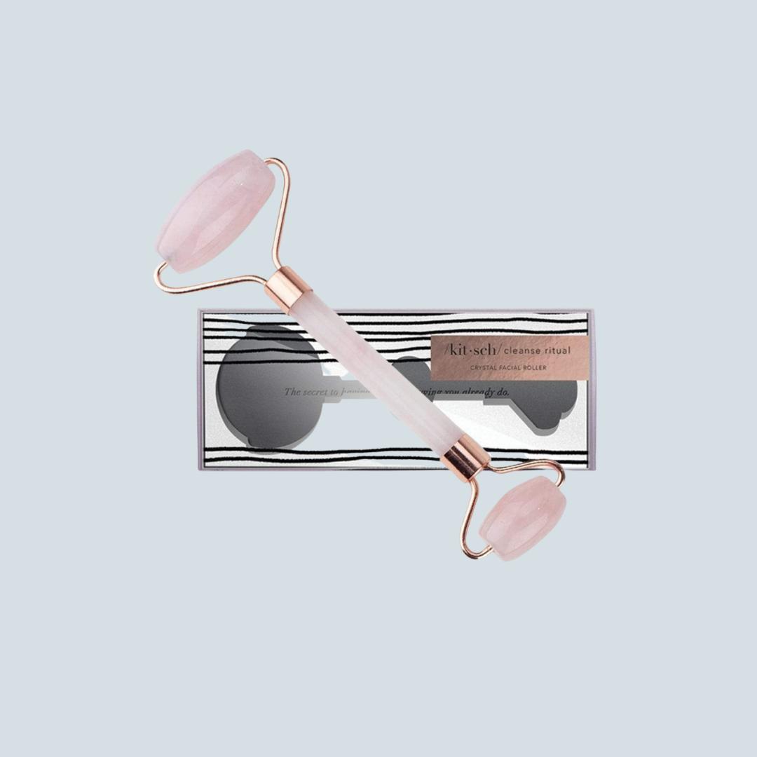 Rose Quartz Crystal Facial Roller