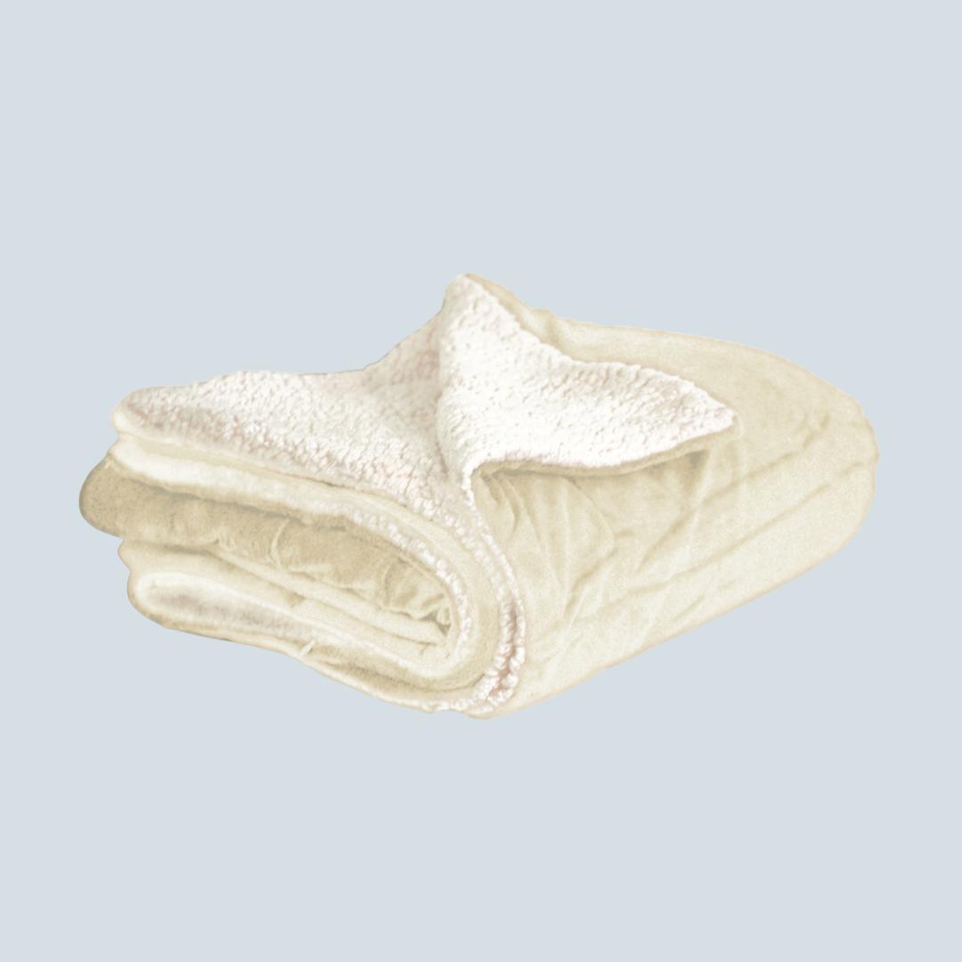 Cream Mink & Sherpa Blanket
