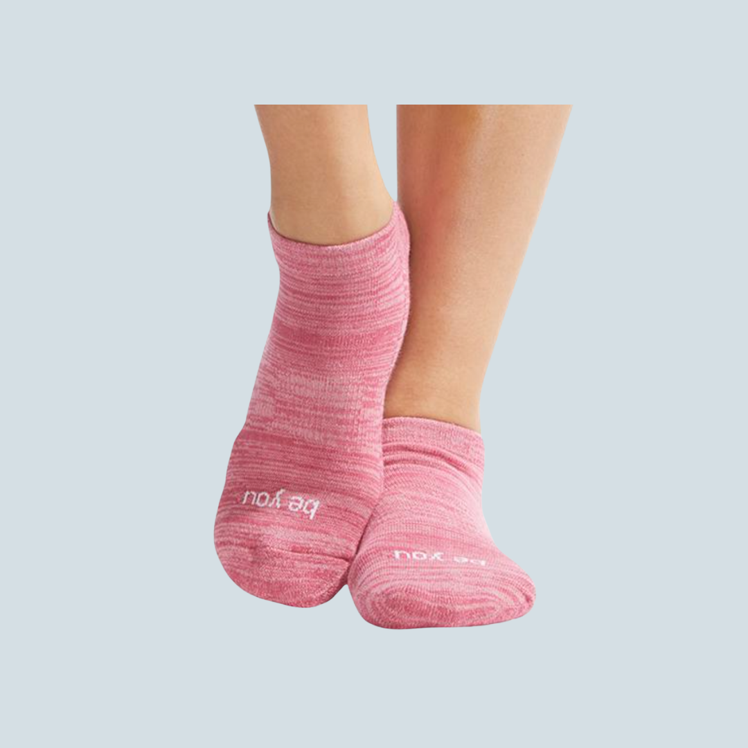 'Be You' Rosette Marbled Grip Socks