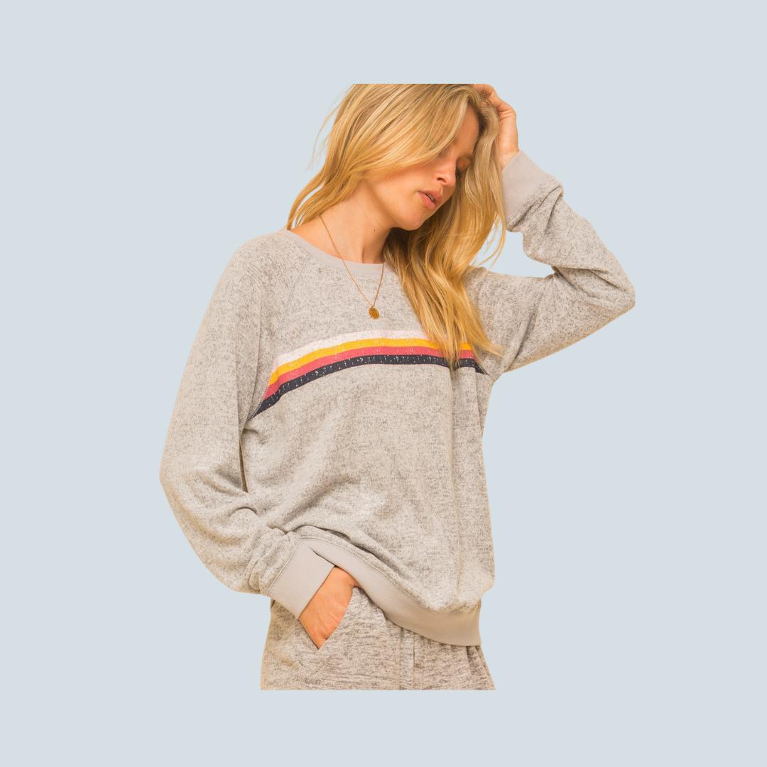 Rainbow Hacci Sweatshirt