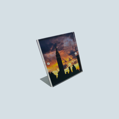 Acrylic & Steel Photo Frame
