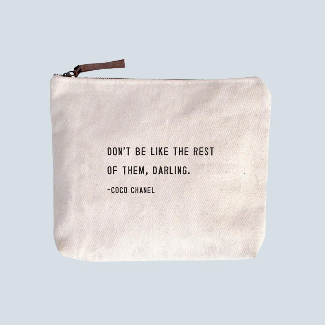 Coco Chanel Canvas Zipper Pouch