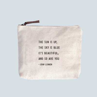 'The Sun Is Up' Canvas Zipper Pouch