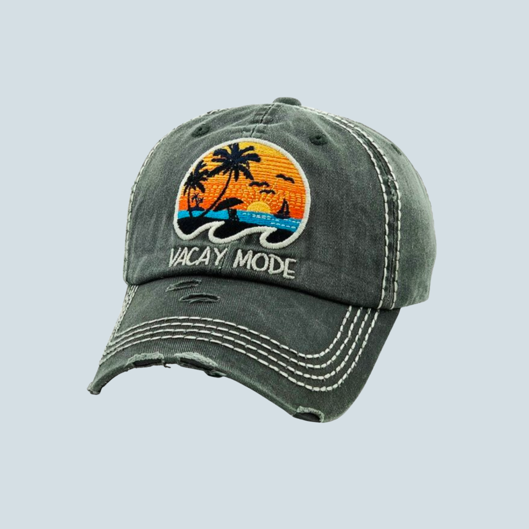 'Vacay Mode' Vintage Style Hat