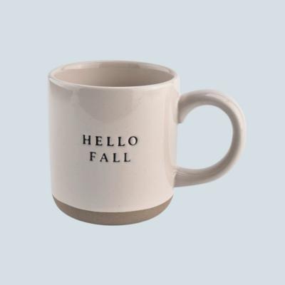 'Hello Fall' Stoneware Mug