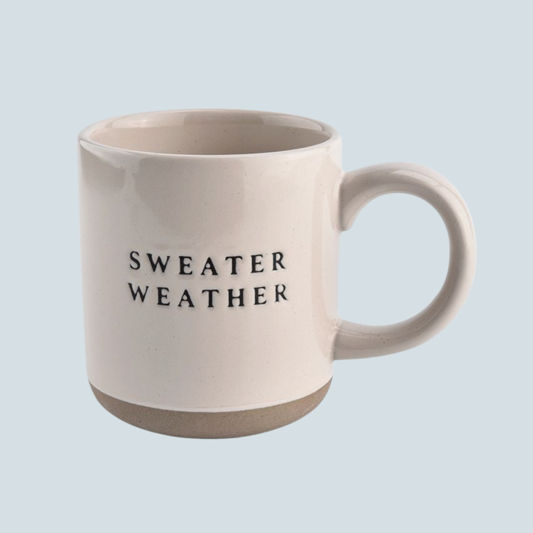 'Sweater Weather' Stoneware Mug