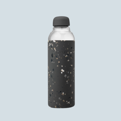 Limited Edition Terrazzo Glass & Silicone Water Bottle