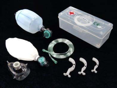 Set reusable resuscitator adult