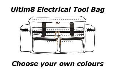 Ultim8 Electrical Tool Bag - Choose your Colours