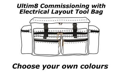 Ultim8 Commissioning with Electrical layout Tool Bag - Choose your own Colours