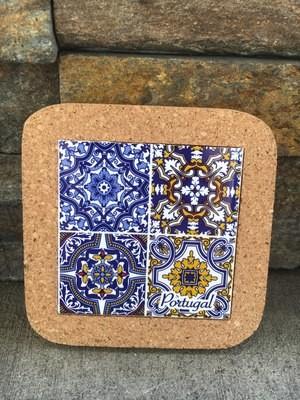Azulejo Trivet (4 Blue)