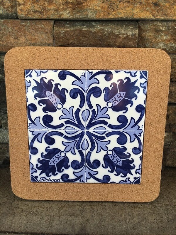 Azulejo Trivet (Blue Painted Tile)