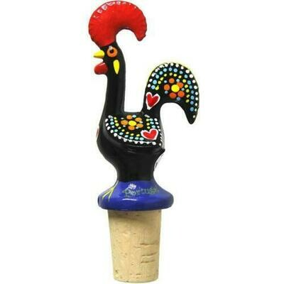 Portuguese Aluminum Decorative Figurine Rooster Wine Stopper