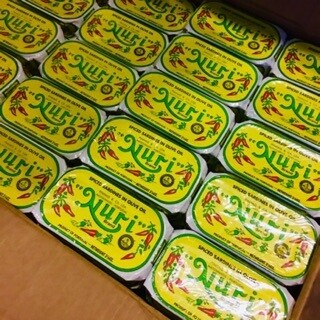 Nuri Portuguese Spiced Sardines  in Olive Oil (3 oz) [BULK] 50 Cans (Free Shipping this Item)