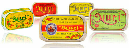 Nuri Portuguese Sardines (4.3 oz) Assorted [BULK] 37 Cans (Free Shipping this Item)