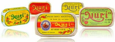 Nuri Portuguese Sardines (4.3 oz) Assorted [BULK] 37 Cans (Free Shipping this Item)