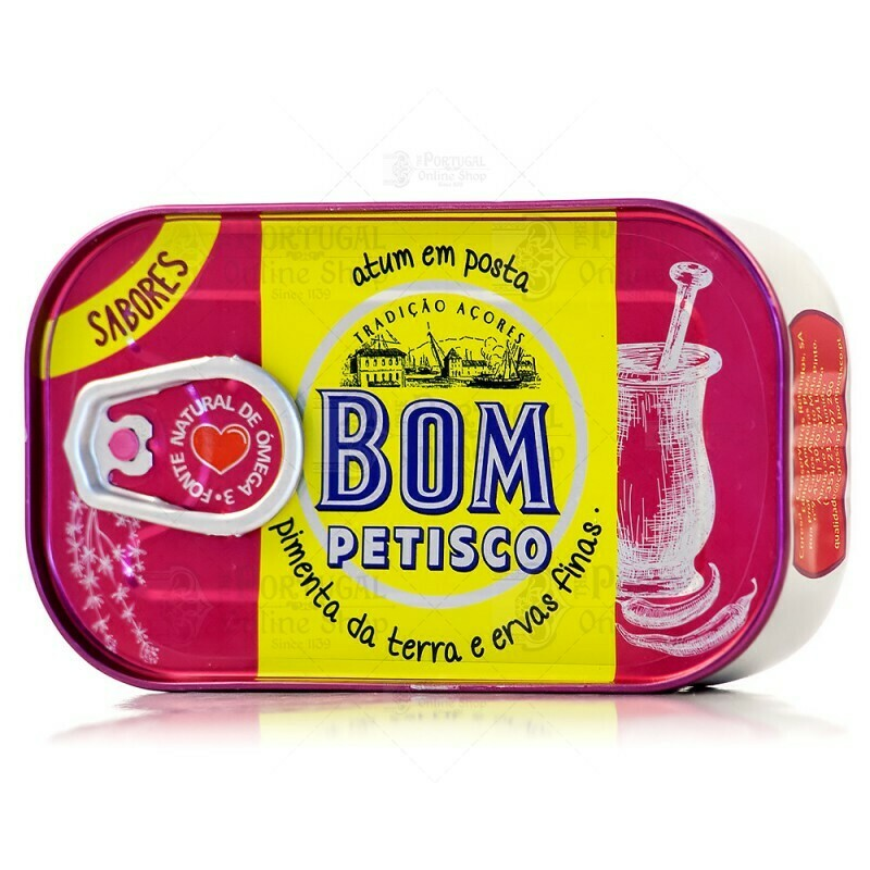 Bom Petisco Solid Tuna with (Bell Peppers & Fine Herbs) (120 gr)