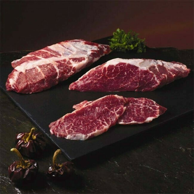 Imported Iberico Pork Shoulder Steak 2 LBS (Grain Fed) - (Ships Separately - Ship Next Day)