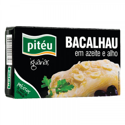 Piteu Salted Cod in Garlic and Olive Oil (120 gr)