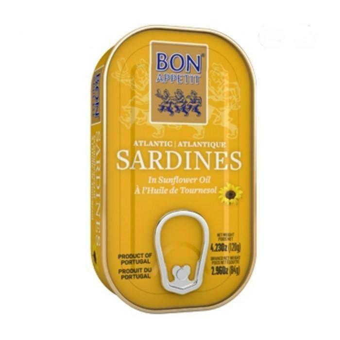 Bon Appetit Sardines in Sunflower Oil (120 gr)