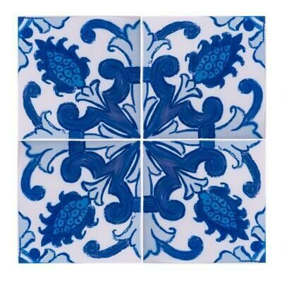 Azulejos Blooming (4 Tiles) (Ship Together Separate Box)