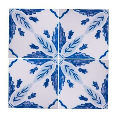 Azulejos Flor (4 Tiles) (Ship Together Separate Box)