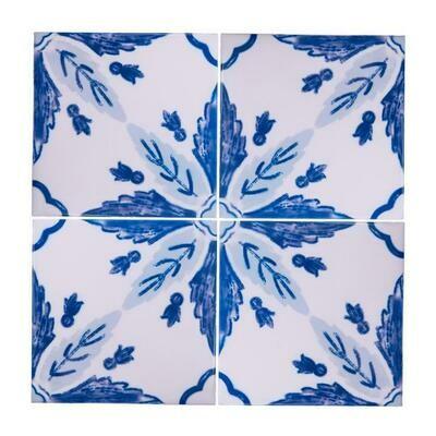 Azulejos Flor (4 Tiles) (Ship Together Separate Box)
