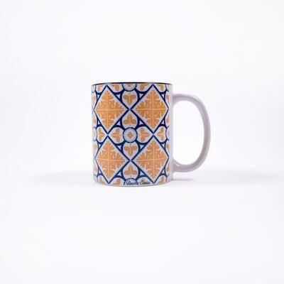 Diamond Flower Azulejos Mug (Ships Separate/Box)