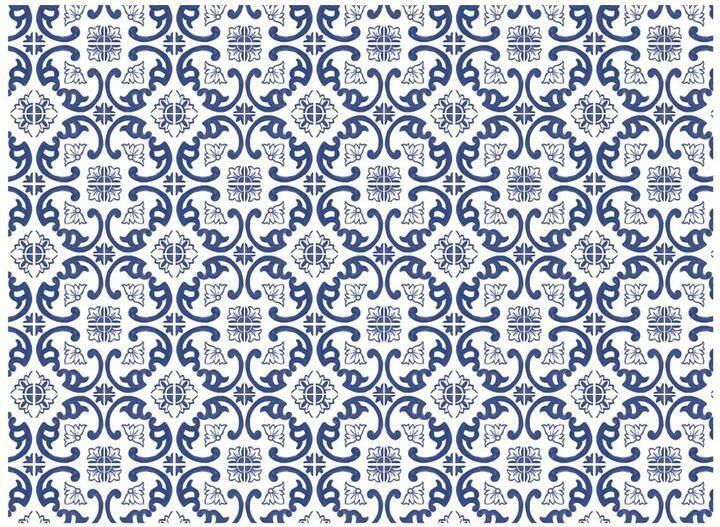 Scrolling Azulejos Cutting Board (Ships Separate/Box)