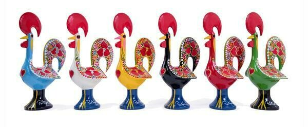 Portuguese Aluminum Decorative Figurine Rooster Decor 25cm
