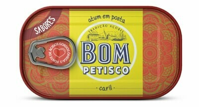 Bom Petisco Solid Tuna with (in Curry Sauce) (120 gr)