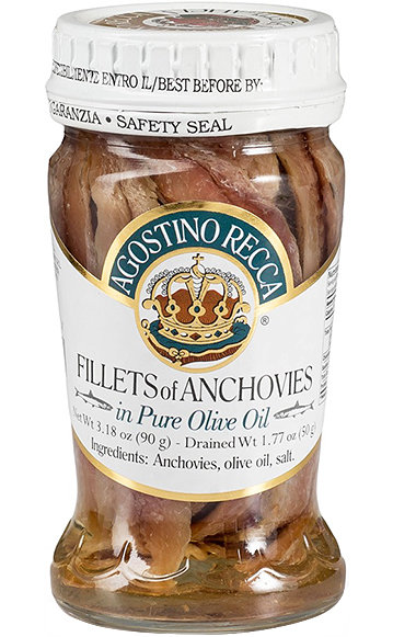 Agostino Recca Anchovies in Olive Oil (90 gr)
