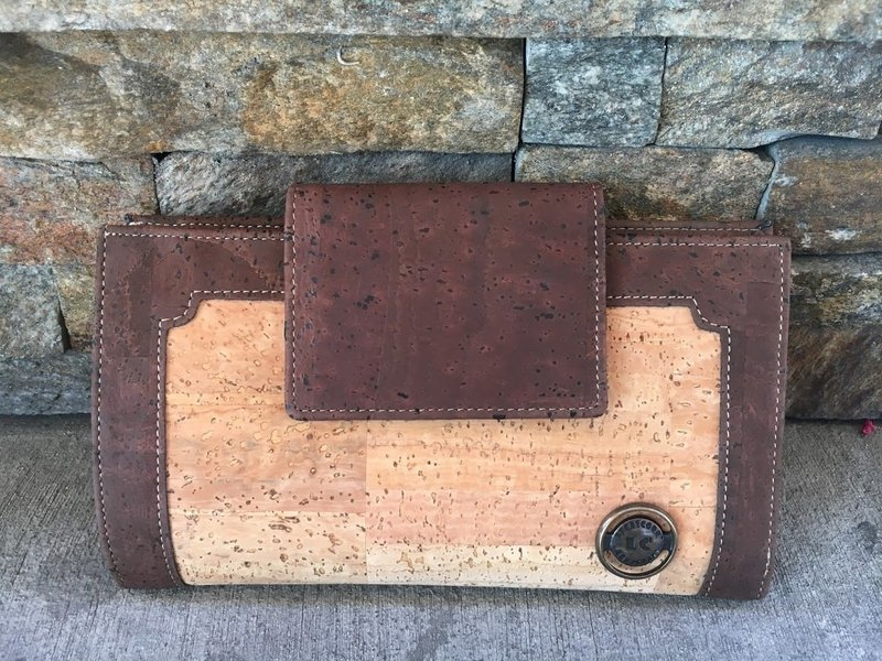Cork Non Print Wallet (Cork)