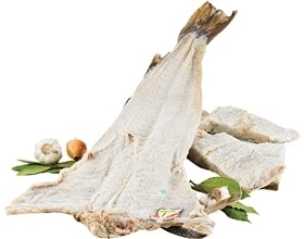 Whole Fish - Dry Salted Cod Jumbo BomPorto (Norway) (Bacalhau) with Skin and Bone and (Free Shipping On Entire Site)