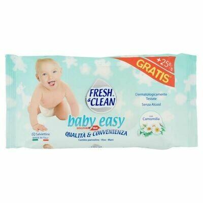 СЕРВЕТКИ ВОЛГІ ДИТЯЧІ 60 ШТ. SALV.BABY EASY FRESH&CLEAN